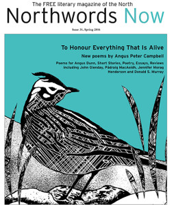 Northwords Now issue 31 cover